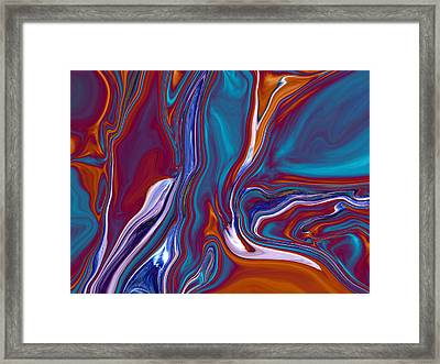 Dead Tree Abstract2 Framed Print by Linnea Tober