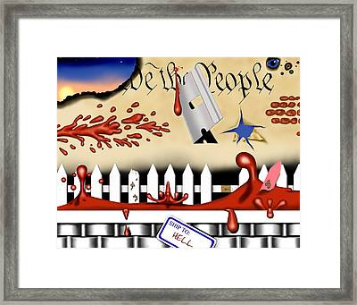 Dead White And Blue I Framed Print