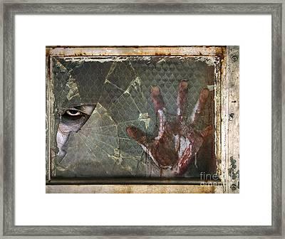 Dead Window Framed Print