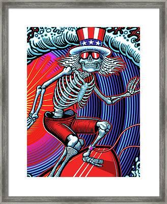 Deadhead Surfer Framed Print