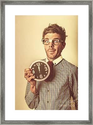 Deadline Looming Framed Print by Jorgo Photography - Wall Art Gallery