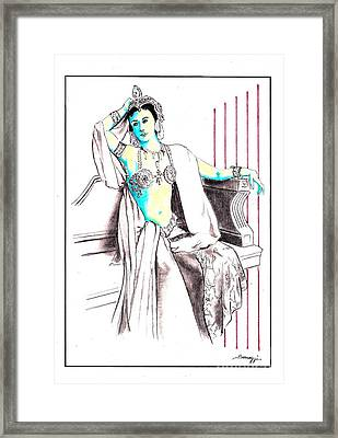 Deadly Diva, Mata Hari -- Portrait Framed Print