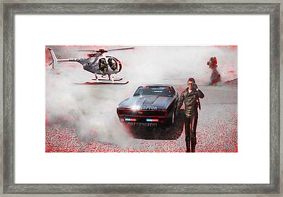 Deadly Pursuit Framed Print by Michael Cleere