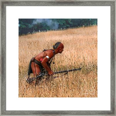 Deadly Skill Indian Hunter Framed Print by Randy Steele