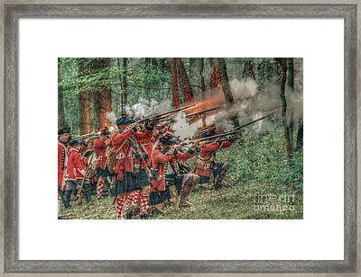 Deadly Volley  Framed Print by Randy Steele