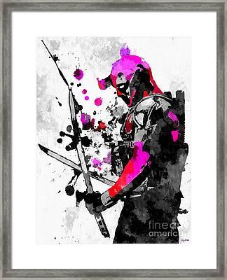 Deadpool Grunge Framed Print
