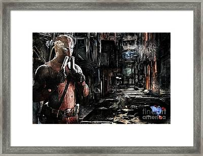 Deadpool Merc-ing Aint Easy Framed Print by The DigArtisT