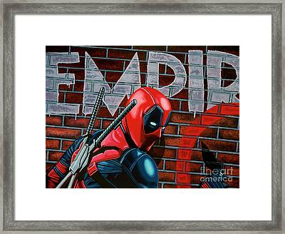 Deadpool Painting Framed Print by Paul Meijering