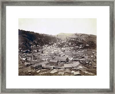 Deadwood South Dakota  1888 Framed Print