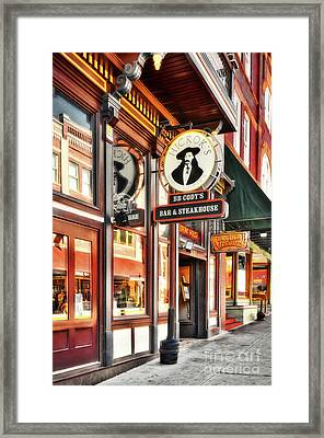 Deadwood South Dakota Framed Print by Mel Steinhauer
