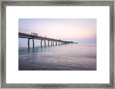 Deal Pier Sunrise Framed Print by Ian Hufton
