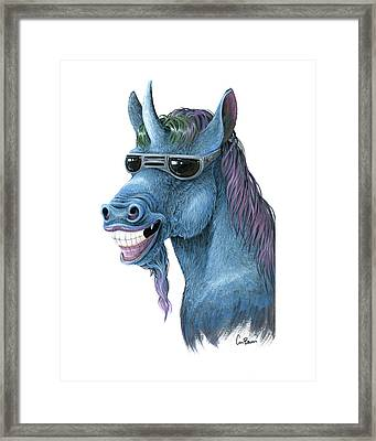Deal With It Framed Print by Cara Bevan