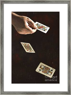 Dealing The Cards Framed Print by Amanda Elwell