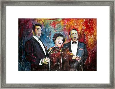 Dean, Judy And Frank Framed Print