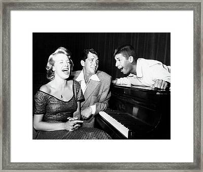 Dean Martin And Jerry Lewis With Rosemary Clooney 1950s Framed Print by N B C