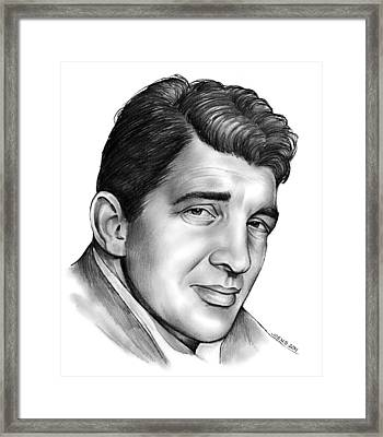 Dean Martin Framed Print by Greg Joens