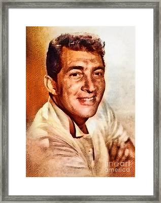 Dean Martin, Hollywood Legend By John Springfield Framed Print