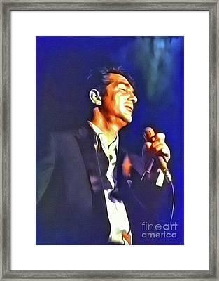 Dean Martin, Hollywood Legend. Digital Art By Mb Framed Print
