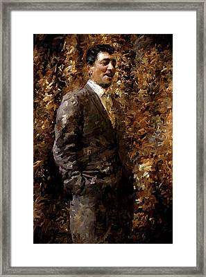 Dean Martin Rat Pack Painting Art  Framed Print