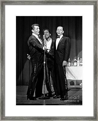 Dean Martin, Sammy Davis Jr. And Frank Sinatra. Framed Print