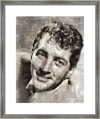Dean Martin Vintage Hollywood Legend Framed Print by Mary Bassett