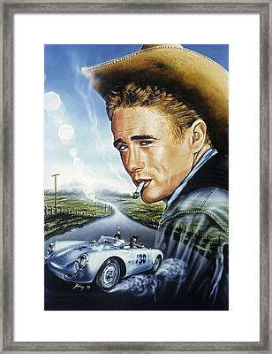 Framed Print featuring the painting Dean Story by Uwe Jarling