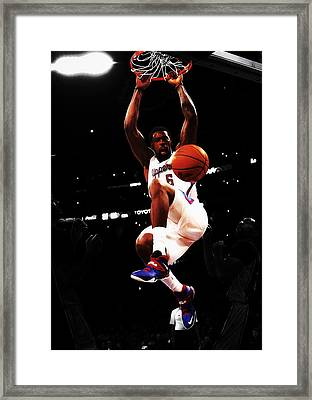 Deandre Jordan  Framed Print by Brian Reaves