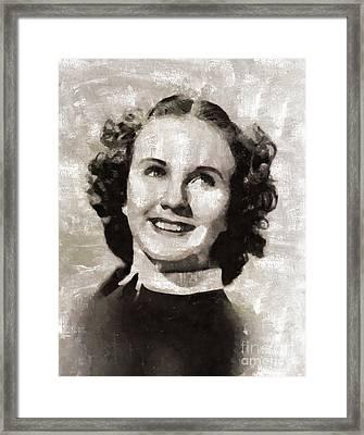 Deanna Durbin, Actress Framed Print by Mary Bassett