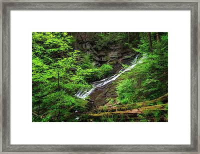 Deans Ravine Falls Framed Print by Bill Wakeley