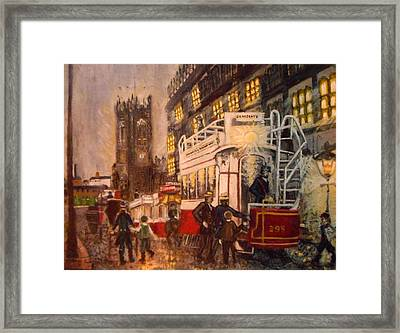 Deansgate With Tram Framed Print