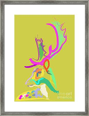Dear Deer Framed Print by Go Van Kampen
