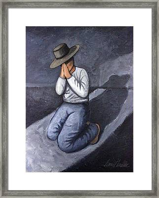 Framed Print featuring the painting Dear God 3 by Lance Headlee