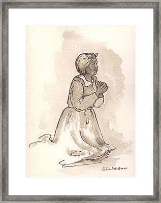 Dear God... Framed Print by Barbel Amos