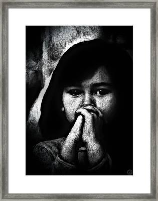 Dear God.... Framed Print by Gun Legler