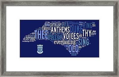Dear Old Duke - Thy Name We Sing Framed Print