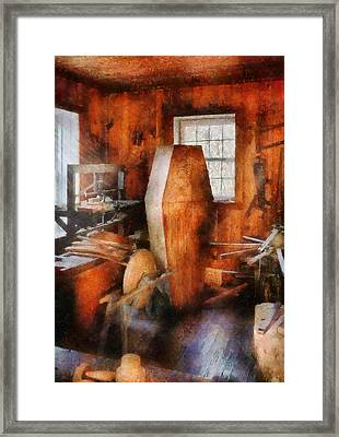 Death - The Coffin Maker Framed Print by Mike Savad