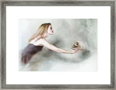 Death And The Maiden Framed Print by Spokenin RED