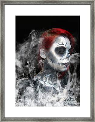 Death Becomes Us Framed Print