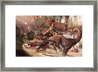 Death By Venom And Claw Framed Print by Ryan Barger
