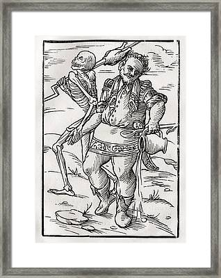 Death Comes For The Cook From Der Framed Print by Vintage Design Pics