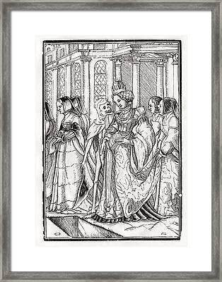 Death Comes For The Empress After Hans Framed Print