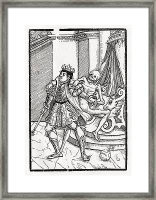 Death Comes For The King From Der Framed Print by Vintage Design Pics