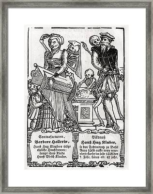 Death Comes For The Painter From Der Framed Print by Vintage Design Pics