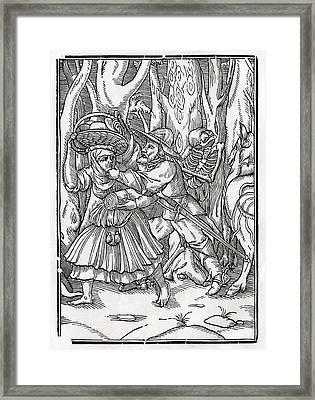 Death Comes For The Robber After Hans Framed Print