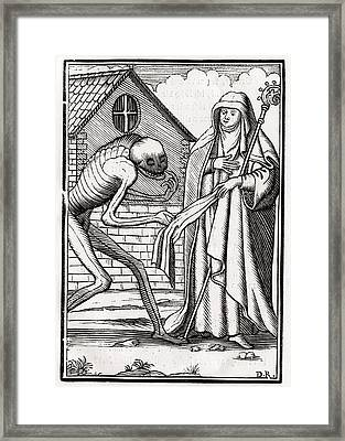 Death Comes To The Abbess From Der Framed Print by Vintage Design Pics