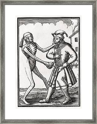 Death Comes To The Jew From Der Todten Framed Print