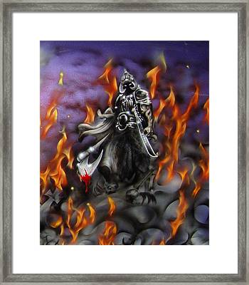 Death Dealer Framed Print by Stephen Sookoo