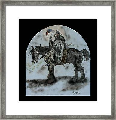 Death Dealer Framed Print by Suzanne Blender