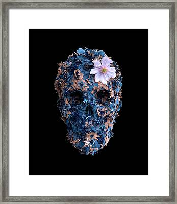 Skull 9 T-shirt Framed Print by Herb Strobino