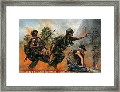 Death Followed Us Home Framed Print